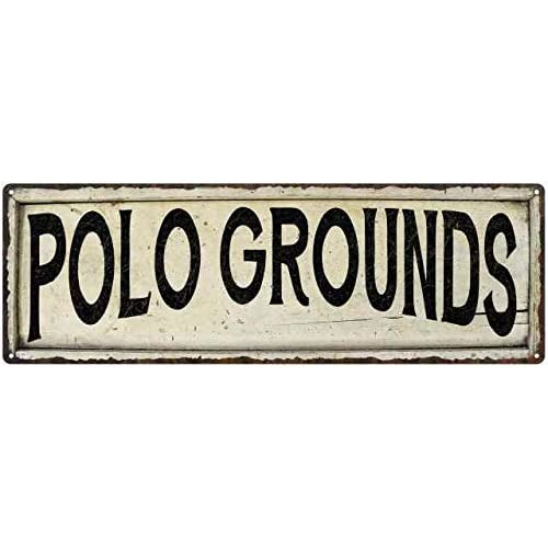 Buy Polo Grounds Sign Farmhouse Signs Wall Decor Art Country Decorations Rustic Vintage Home Tin Plaque Baseball Sports Gift 6 X 18 High Gloss Metal 206180028246 Online In Nigeria B07n2f7k4k