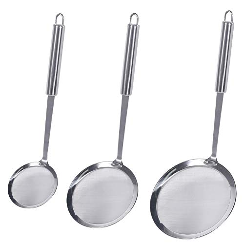 Stainless Steel Skimmer Spoon Mesh Strainer for Kitchen Cook Fat Oil Filter uk