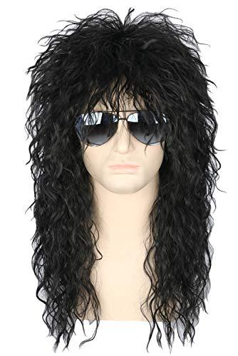 Topcosplay Men and Women Afro Wigs Disco Hippie Wig Short Halloween Costume Wigs Dark Brown