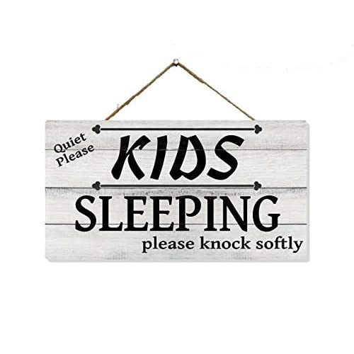 Buy Chico Creek Signs Kids Sleeping Front Door Sign Wood Decor Hanging Do Not Disturb Baby Napping House Wood Decor Wooden Signs Wall Decorations Quiet Knock Hanger Nap 5x9 5 Gift Sp 05950002020 Online