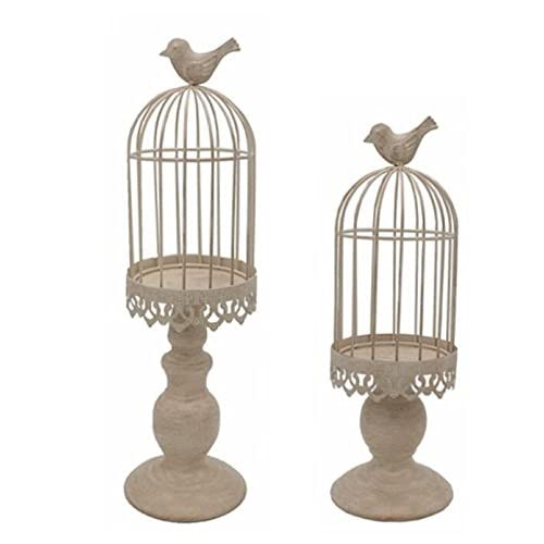 Lanlong Pack Of 2 Piece Birdcage Candle Holder Vintage Candle Stick Holders Wedding Candle Centerpieces For Tables Iron Candlestick Holder Home Decor Candle Holder 2 Beige Buy Products Online With Ubuy Nigeria