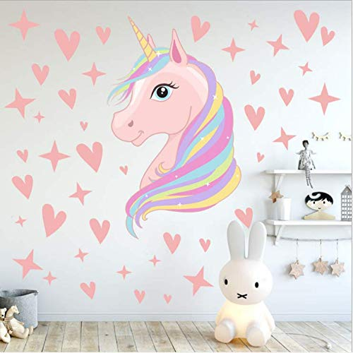 Aiyang Pink Unicorn Wall Decals Stars Love Hearts Stickers Girls Babies Children Teens Bedroom Playroom Decoration Buy Products Online With Ubuy Nigeria In Affordable Prices B07kx3gc4t