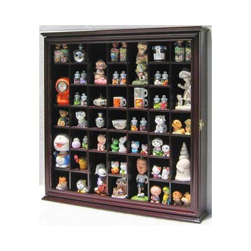 Buy Collectible Display Case Wall Curio Cabinet Shadow Box Solid Wood Glass Door Cherry Finish Online In Nigeria B0778wzmlj