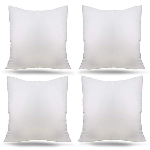 Buy Ogrmar 4 Packs 18 X18 Premium White Throw Pillow Insert Hypoallergenic High Resilient Pp Cotton Stuffer Pillow Insert Square Form Sham Stuffer Decorative Pillow Cushion Set Of 4 Online In Nigeria B083bb21sm