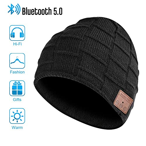 EASTPIN Bluetooth Beanie Music Hat with Bluetooth Headphones Electronic Gifts for Men Mens Gifts Fashion Gifts for Women Bluetooth Hats for Men and Women