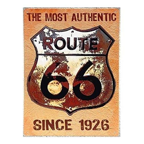 Uniq Designs Vintage Tin Signs Us Route 66 Since 1926 Road Signs Decor Route 66 Decor Vintage Metal Signs Perfect Road Signs Garage Signs And Decor Metal Wall Signs Mancave Signs And Decor 12x8