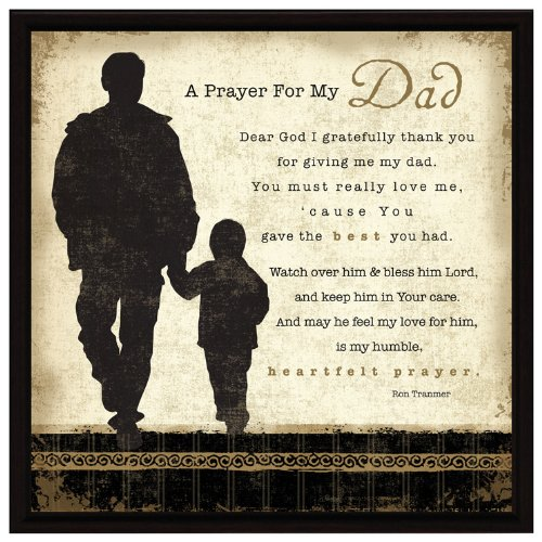 Buy Dad Prayer Wood Framed Plaque Father Inspiring Quote 7 5 Square Frame Wall Tabletop Decoration Easel Hanging Hook Prayer For My Dad Dear God I Gratefully Thank