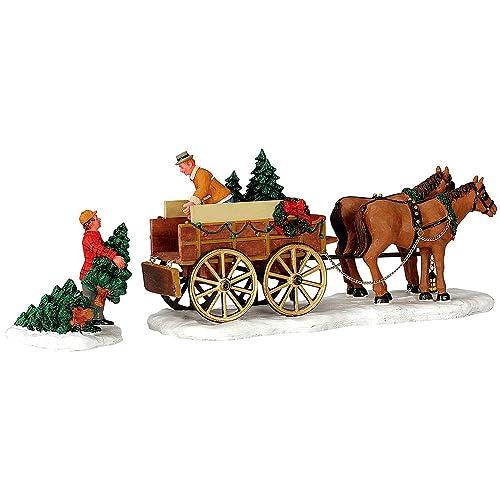 Buy Lemax Limited Christmas Village Accessory Christmas Tree Wagon Online In Nigeria B07kx2xf4n