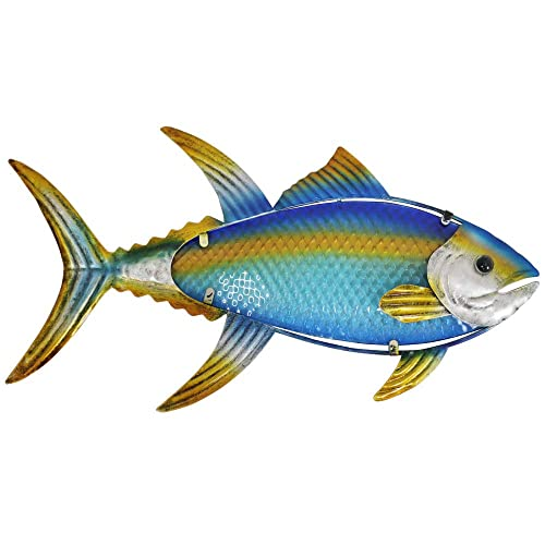 Buy Liffy Metal Fish Wall Art Outdoor Nautical Tuna Decor Ocean Hanging Sculpture For Pool Or Bathroom Online In Nigeria B085rsqw4r