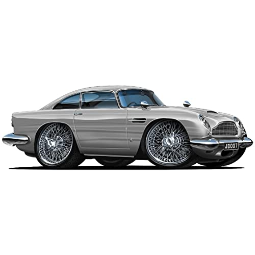Buy 18 Aston Martin Db5 Silver Wall Decal Cartoon Luxury Car 3d Sticker Mural Kids Room Sports Den Man Cave Boys Online In Nigeria B071v84fx3