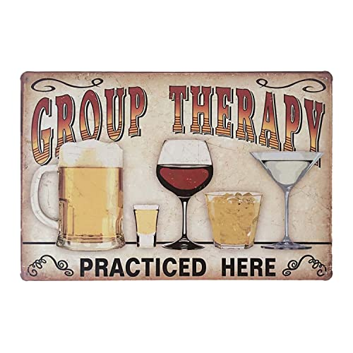 Buy Erlood Retro Vintage Metal Tin Sign Wall Plaque Poster Cafe Bar Pub Beer Club Wall Home Decor Group Therapy Practiced Here 12 X 8 Inches Online In Nigeria B01a50ctty