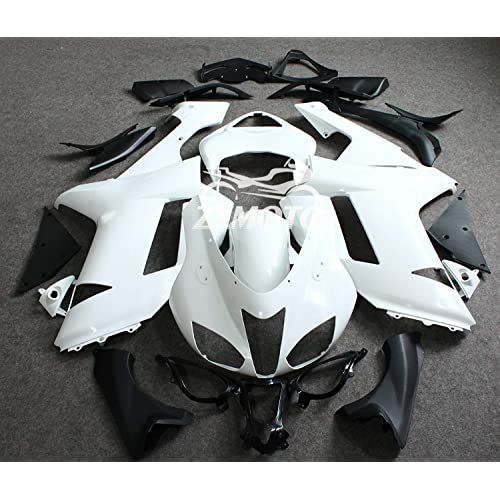 ZXMOTO Unpainted Front Upper Nose Fairing for 2007 2008 Kawasaki Ninja 636 ZX 6R