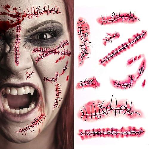 Halloween Horror Scar Tattoo Temporary Individual Party Bag filler boys Girls