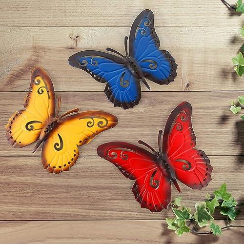 Buy Mdluu 3d Metal Wall Art Butterfly Wall Sculpture Indoor Outdoor Hanging Decor For Home Restaurant Garden Yard Pack Of 3 Online In Nigeria B083dl8nmx
