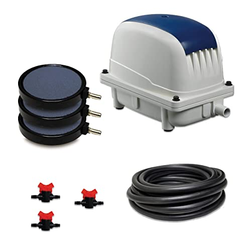Half Off Ponds Patriot Pond Subsurface Aeration System With 3 0 Cubic Feet Per Minute Air Pump 40 Weighted Tubing 3 8 Diffusers 3 Ball Valve Manifold And T Pak 80k Buy