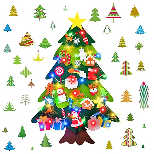 Buy Hwg Felt Christmas Tree With 30 Pcs Detachable Ornaments 3 4 Ft Diy Christmas Decorations For Kids Toddlers Xmas Gifts Door Wall Hanging Decorations Online In Nigeria B07yfd4bll