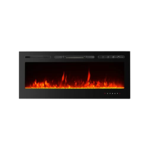 Paolfox 50 Inches Wall Mounted, Fake Fireplace Heater Wall