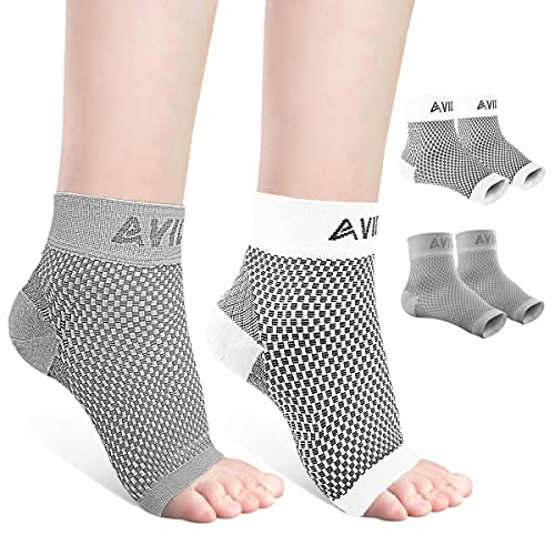 Ankle Brace for Men Women AVIDDA Plantar Fasciitis Socks with Arch Support Open Toe Compression Foot Sleeve for Achilles Tendon Support Sprained Ankle Swelling Flat Feet Eases Heel Pain Relief