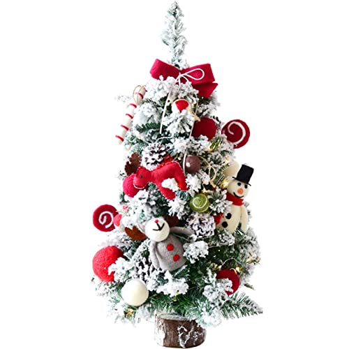 Buy Christmas Tree Renruirui Desktop Small 60cm Artificial Flocking With Felt Fabric Ornaments For Dining Table Desk Xmas Decoration Online In Nigeria B08njnwzg2