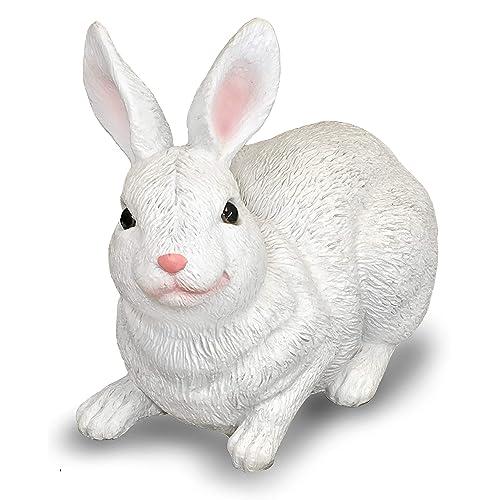 Buy Sculpture Lying Down White Rabbit Statue For Garden Cute White Rabbit Statue Decor Peaceful Garden Rabbit Statue Outdoor Decor Bunny Statue Decorations Garden Bunny Outdoor 8 Inches Height Online In Nigeria B07qf3xgt3