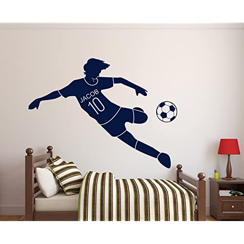 Buy Custom Soccer Name Wall Decal Nursery Wall Decals Soccer Decals For Walls 30wx18h Online In Nigeria B00ty1eija