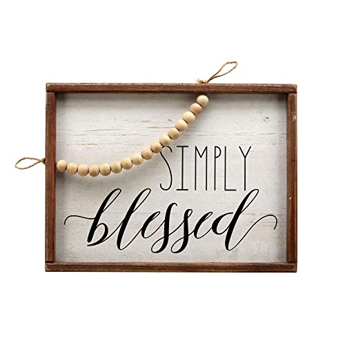 Buy Paris Loft Simply Blessed White Washed Pine Wood Signs With Wood Beads Wood Framed Farmhouse Wall Hanging Decor Rustic Wood Wall Sign Plaque Online In Nigeria B07z1h3yb9