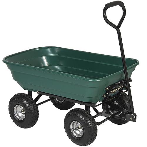 Best Choice S 650lb Garden, Steel Utility Flat Garden Wagon
