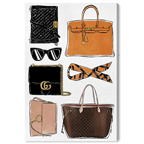 Buy The Oliver Gal Artist Co Fashion And Glam Wall Art Canvas Prints My Purse Collection Home Décor 40 X 60 Orange Brown Online In Nigeria B07qsyt3lv