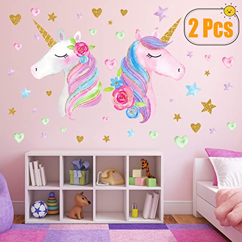 Buy 2 Sheets Large Size Unicorn Wall Decor Removable Unicorn Wall Decals Stickers Decor For Gilrs Kids Bedroom Nursery Birthday Party Favor Neasyth Store 9 99 2 Pcs Online In Nigeria B07xwyqtmz