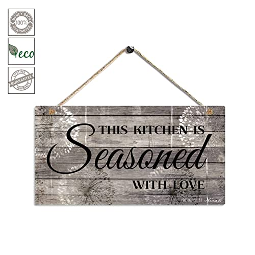 Buy Farmhouse Kitchen Decor Rustic Kitchen Signs Wall Decor Printed Wood Wall Art This Kitchen Is Seasoned With Love Kitchen Wall Decor 11 5 X 6 Grey Black Online In Nigeria B07sd3ycsm