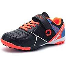 Unisex Boy and Kids and Toddler Indoor Turf Comfortable Anti-Slip Soccer Cleat LEOCI Turf Soccer Shoe
