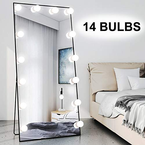 Chende 16 4ft Hollywood Led Mirror, Big Standing Mirror With Light Bulbs