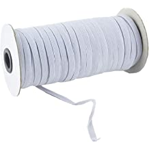 FoamTouch Premium Quality 1//4 Wide 25 Yards White Heavy Stretch Knit Elastic Band/…