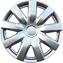 Set of 4 Pilot WH526-15S-B Universal Fit Toyota Corolla Style Silver 10 Spoke 15 Inch Wheel Covers