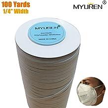 Elastic Rope White Heavy Stretch Elastic Band Foamma 1//4 Wide Braided Elastic Cord for Sewing Heavy Stretch Knit Elastic Spool 15 Yards Bungee