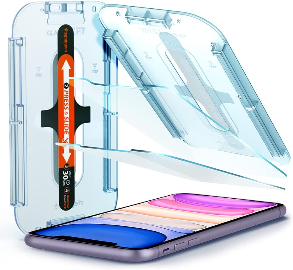 Buy Spigen Tempered Glass Screen Protector [Glas.tR EZ Fit] designed for iPhone 11 / iPhone XR [6.1 inch] [Case Friendly] - 2 Pack Online in Nigeria. B07GX33WVR