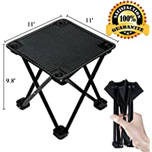 Camping Folding Stool Aottom Outdoor Portable Retractable Folding Camping Stool Lightweight Sturdy Plastic Chairs for Kids Adults Hiking Camping Fishing BBQ Traveling Gardening Max Load 150KG//350lbs