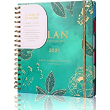 Uvu Calendar 2022.Buy Cagie Daily Weekly Planner Jan 2021 To Jan 2022 13 Month Academic Yearly Day Planner Twin Wire Binding Hardcover Agenda With Stickers Calendar Monthly Tabs For Women Green Online In Nigeria B08jz1f6th