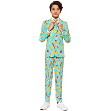 Pants and Tie OppoSuits Boys Fun Christmas Suits for Teen Aged 10-16 Years-Full Set Jacket